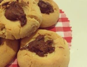 Galletas fáciles de mantequilla y chocolate