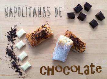 cómo hacer napolitanas de chocolate