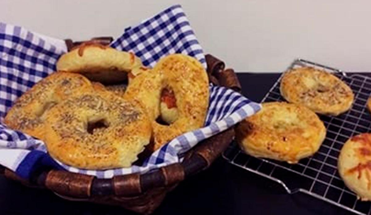 como hacer bagels en casa facil