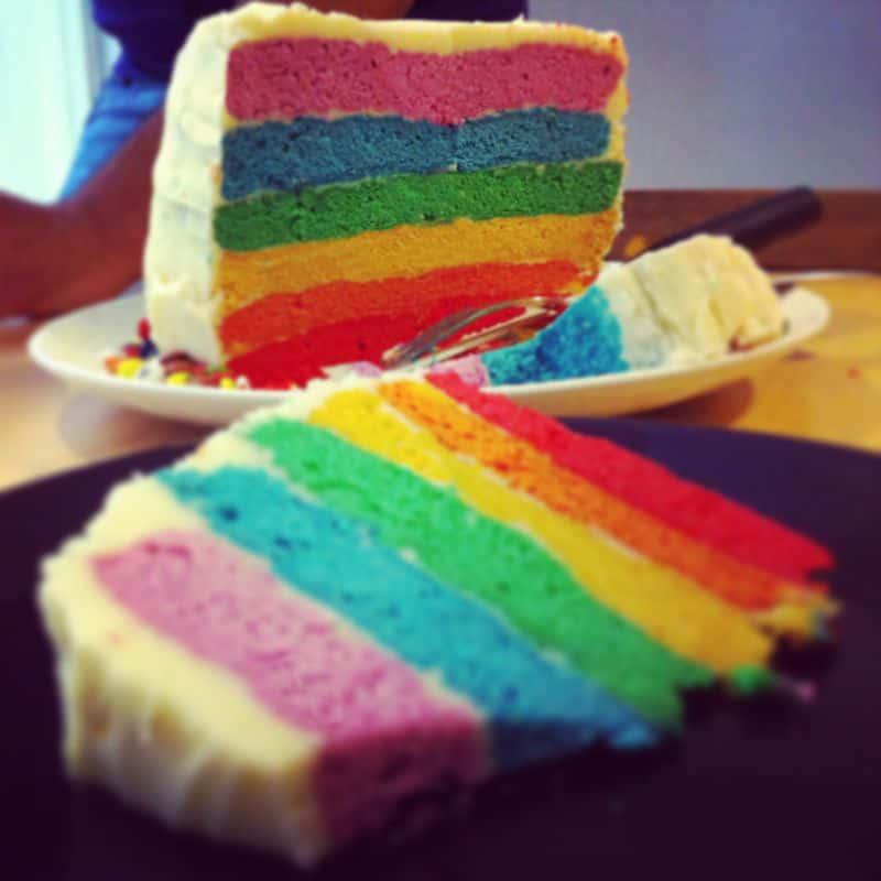Porción rainbow