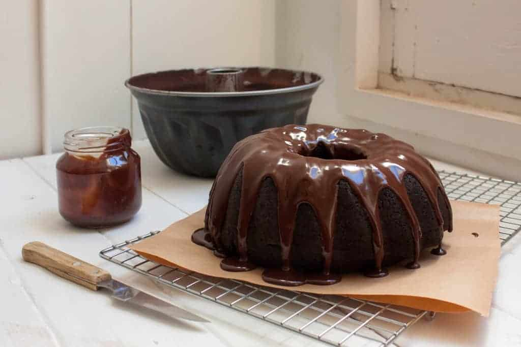 Bundt de chocolate y Bourbon