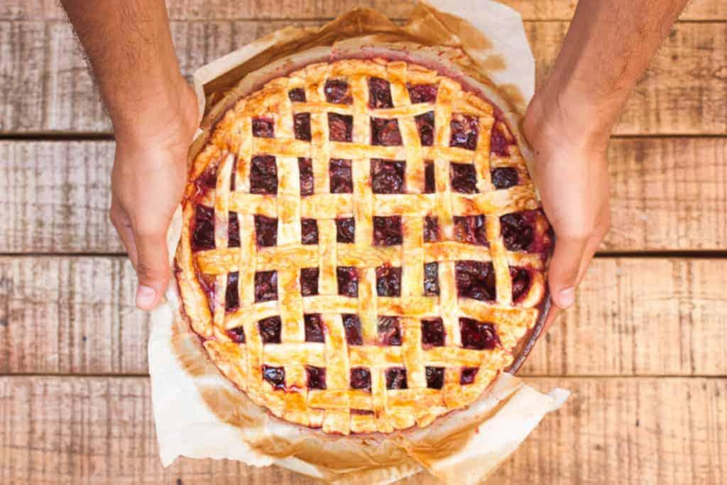 Tarta de cerezas cherry pie