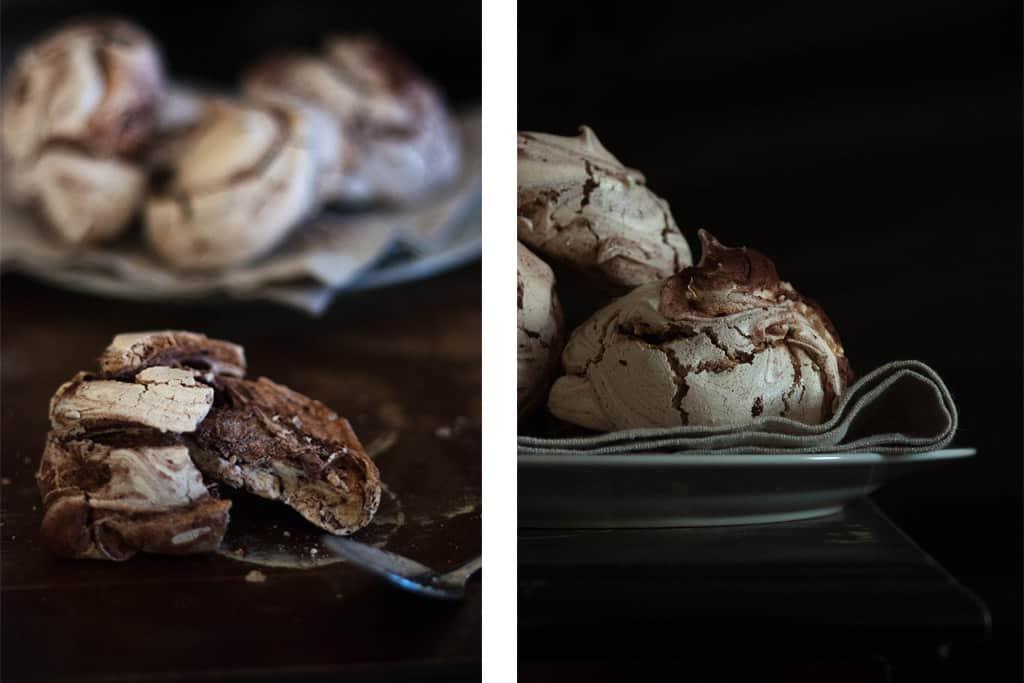 Como hacer merengues de chocolate