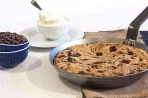 Receta galleta en sartén