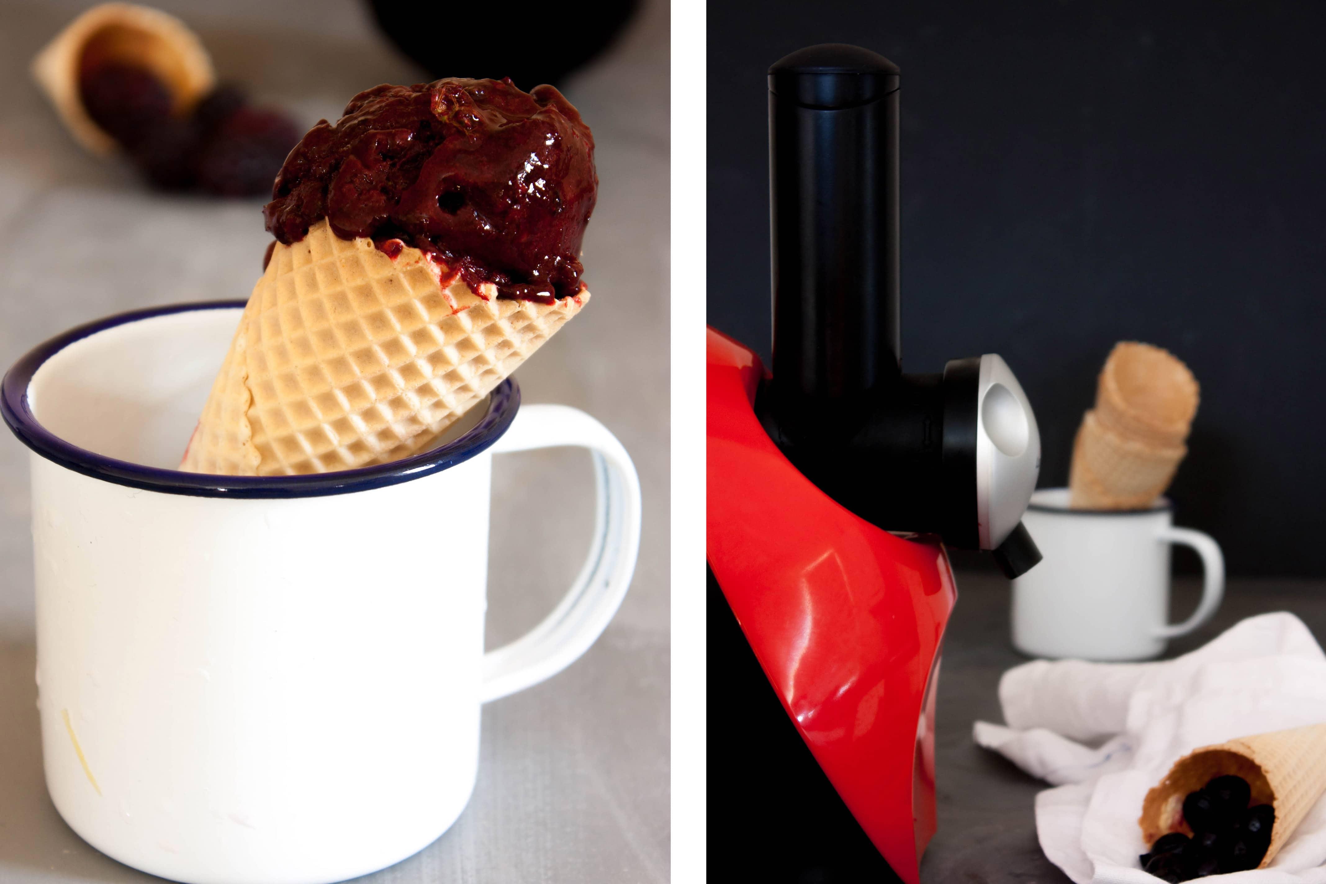 Como hacer helado de mora