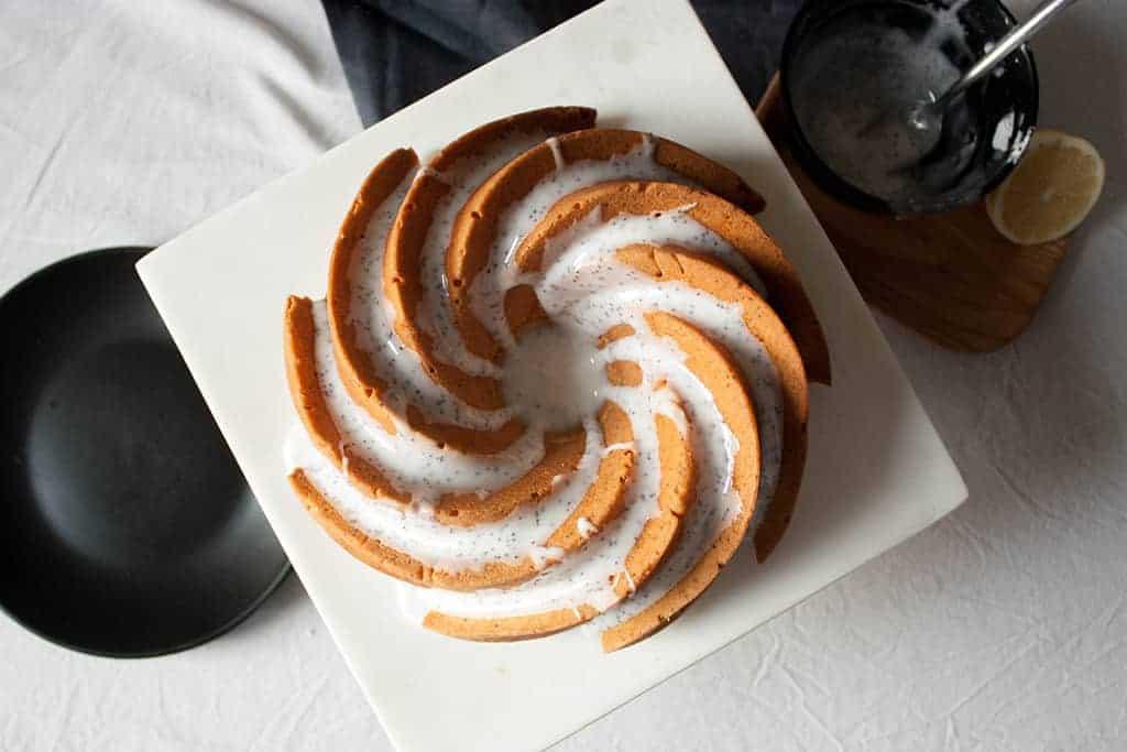 Receta de bundt cake de limón