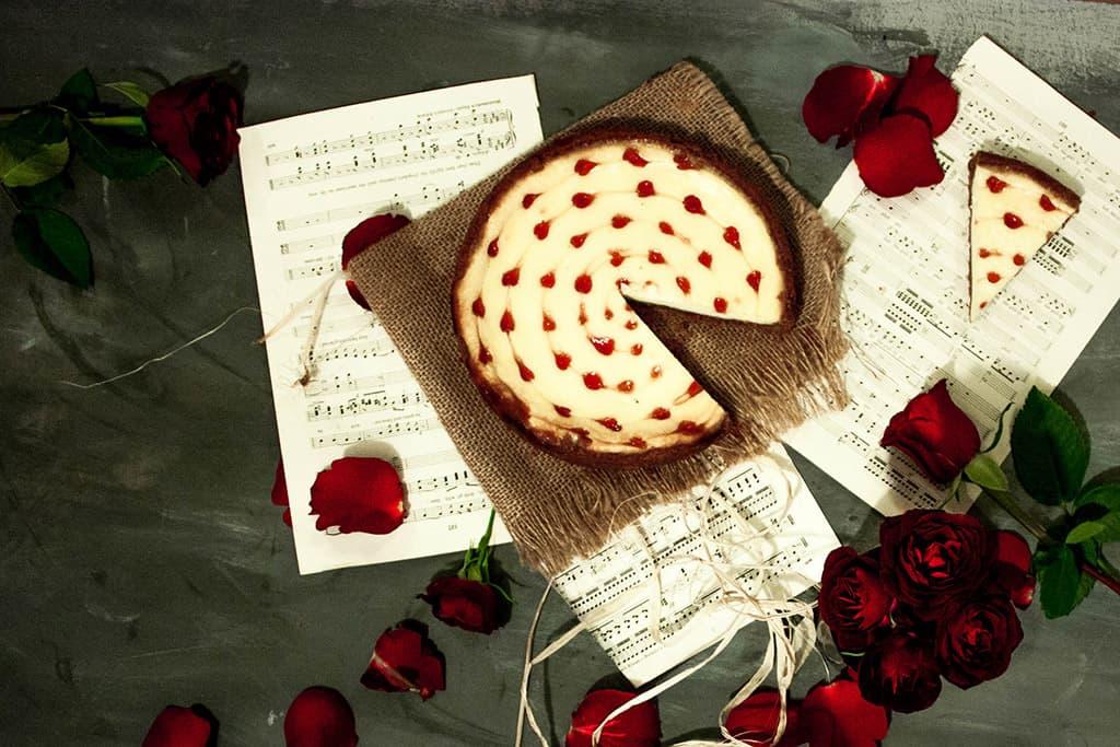 Cheesecake de san valentin