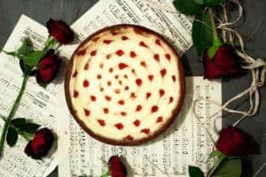 Receta cheesecake con corazones