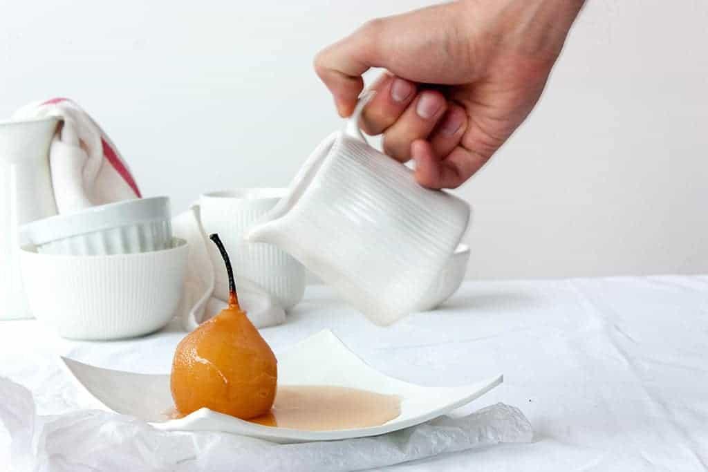 receta peras en almibar