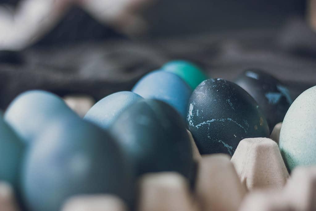 Huevos de pascua tinte