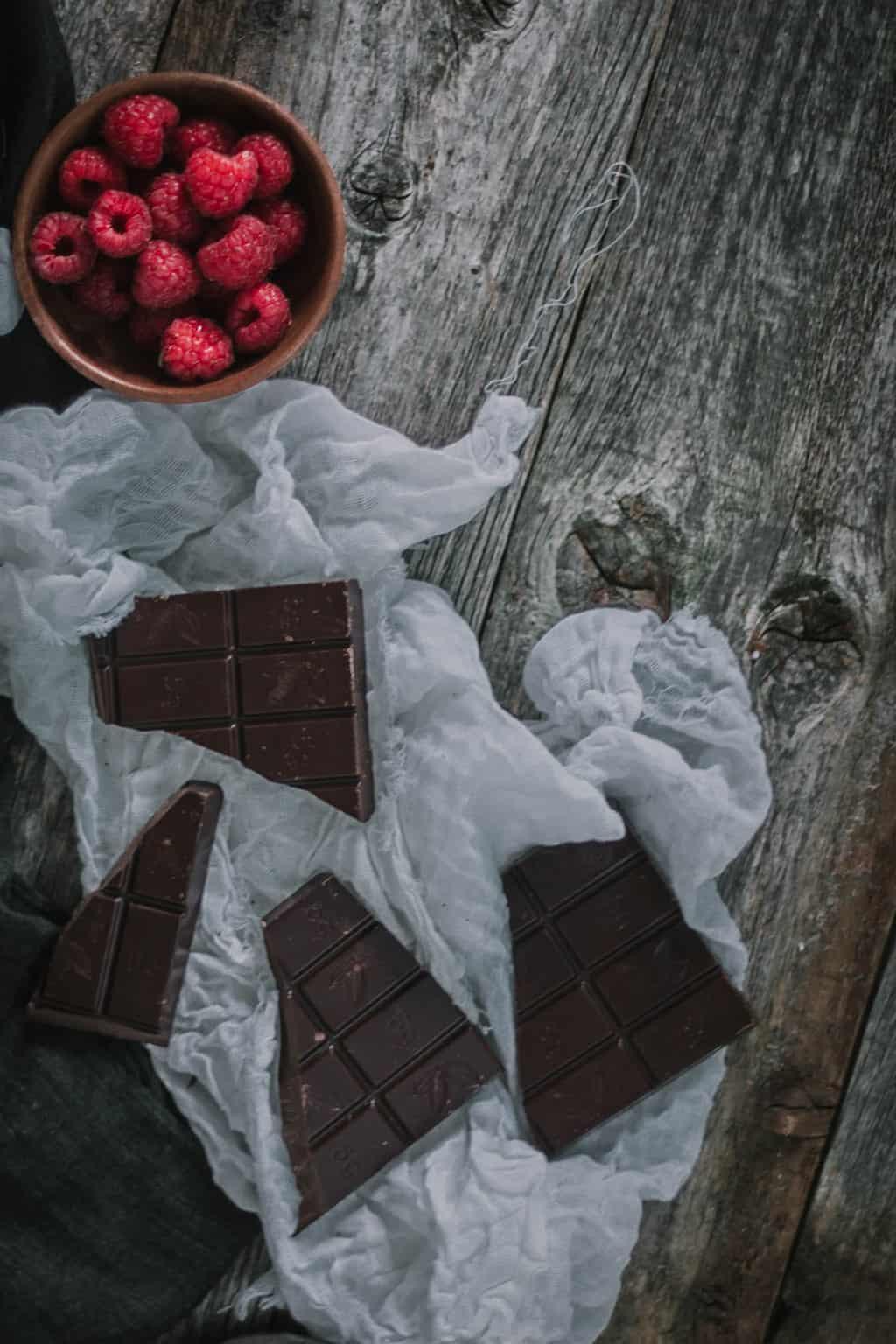 Brownie de chocolate y frambuesa