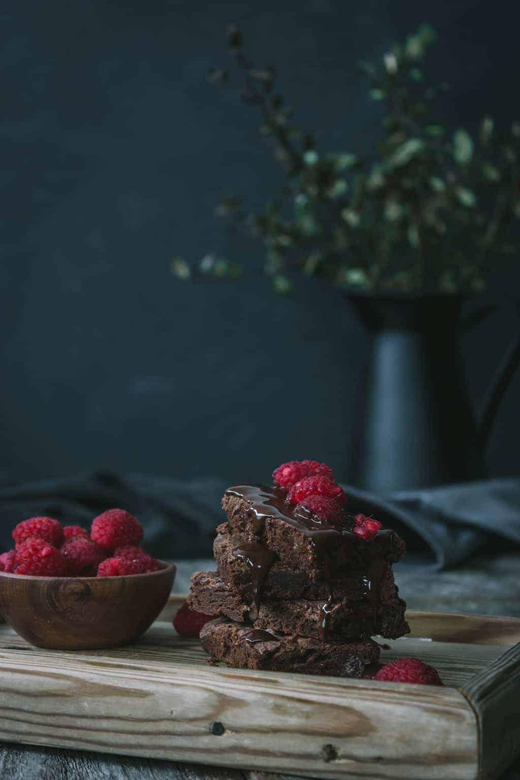 Brownie de frambuesas