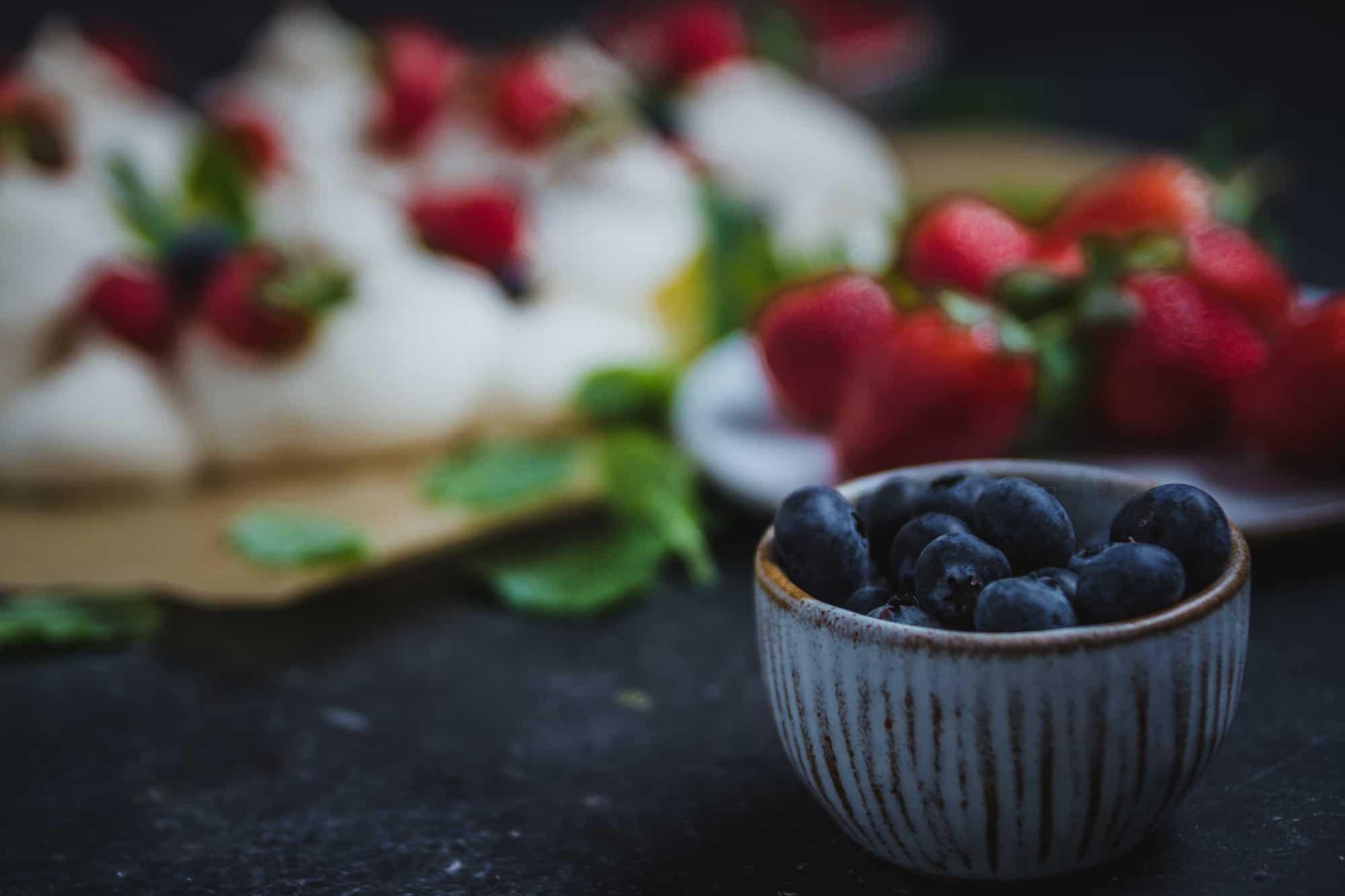 Frutos rojos pavlova