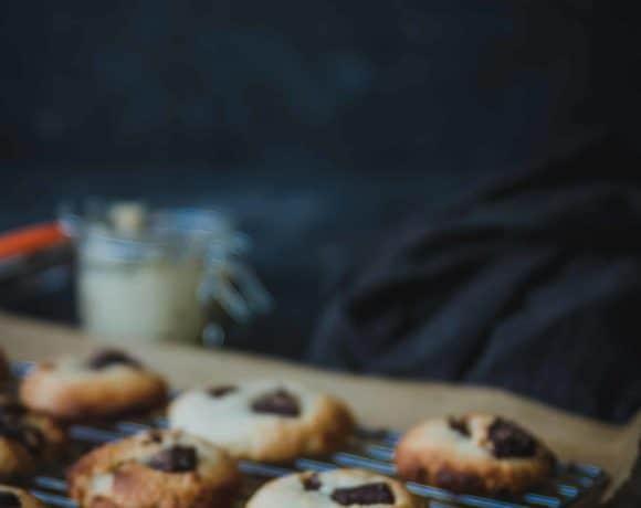 Cookies de chocolate y anacardos