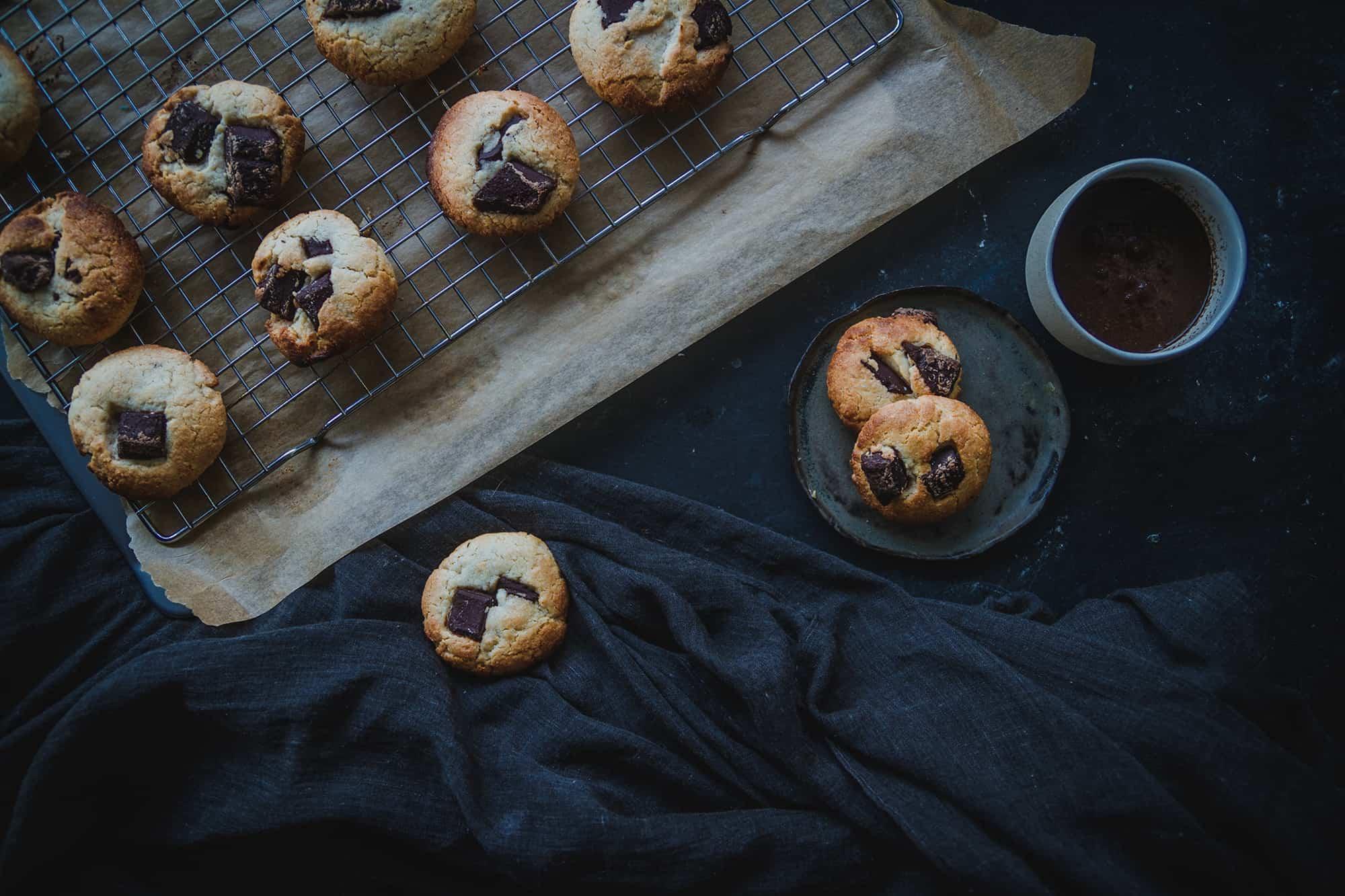 cookies de chocolate sin mantequilla