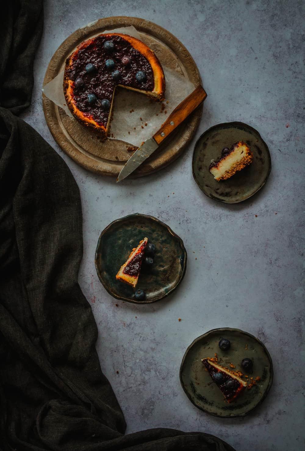 cheesecake de arandanos