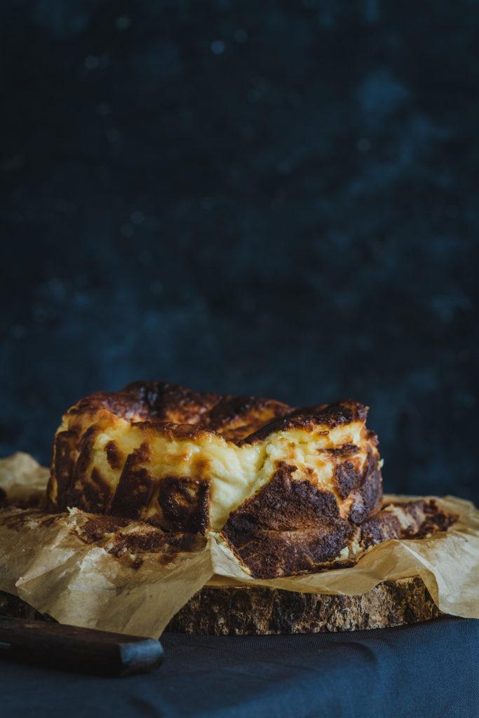 tarta de queso estilo la viña