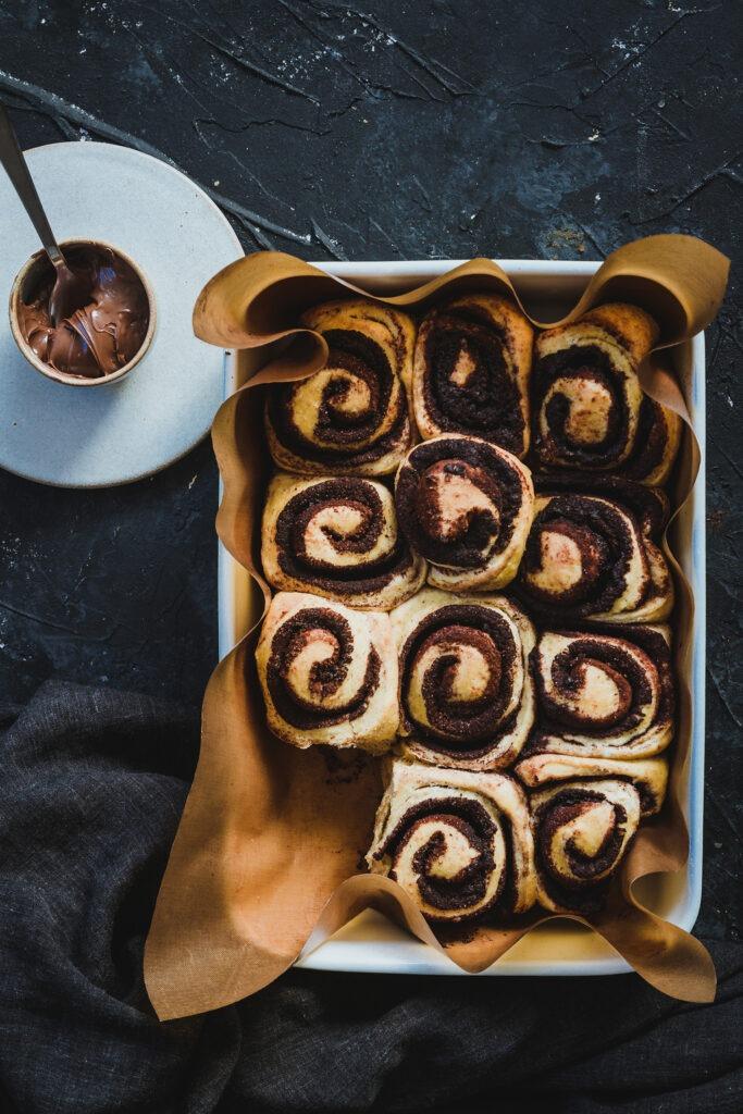 Rollitos de chocolate receta